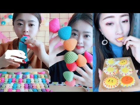[ASMR] Unique And Creative Frozen Chocolate Eating Long Compilation [NO TALKING]
