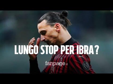 Zlatan Ibrahimovic, infortunio in allenamento con il Milan: si teme un lungo stop