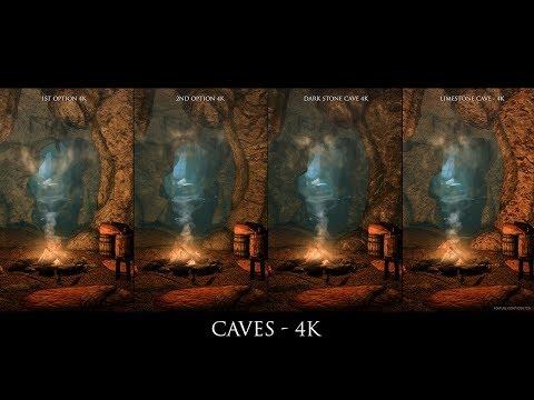 Skyrim SE Mods: Caves - 4k by hodilton