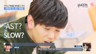 [ENG SUB] 160308 Eric Nam's phone call to 15& Park Jimin