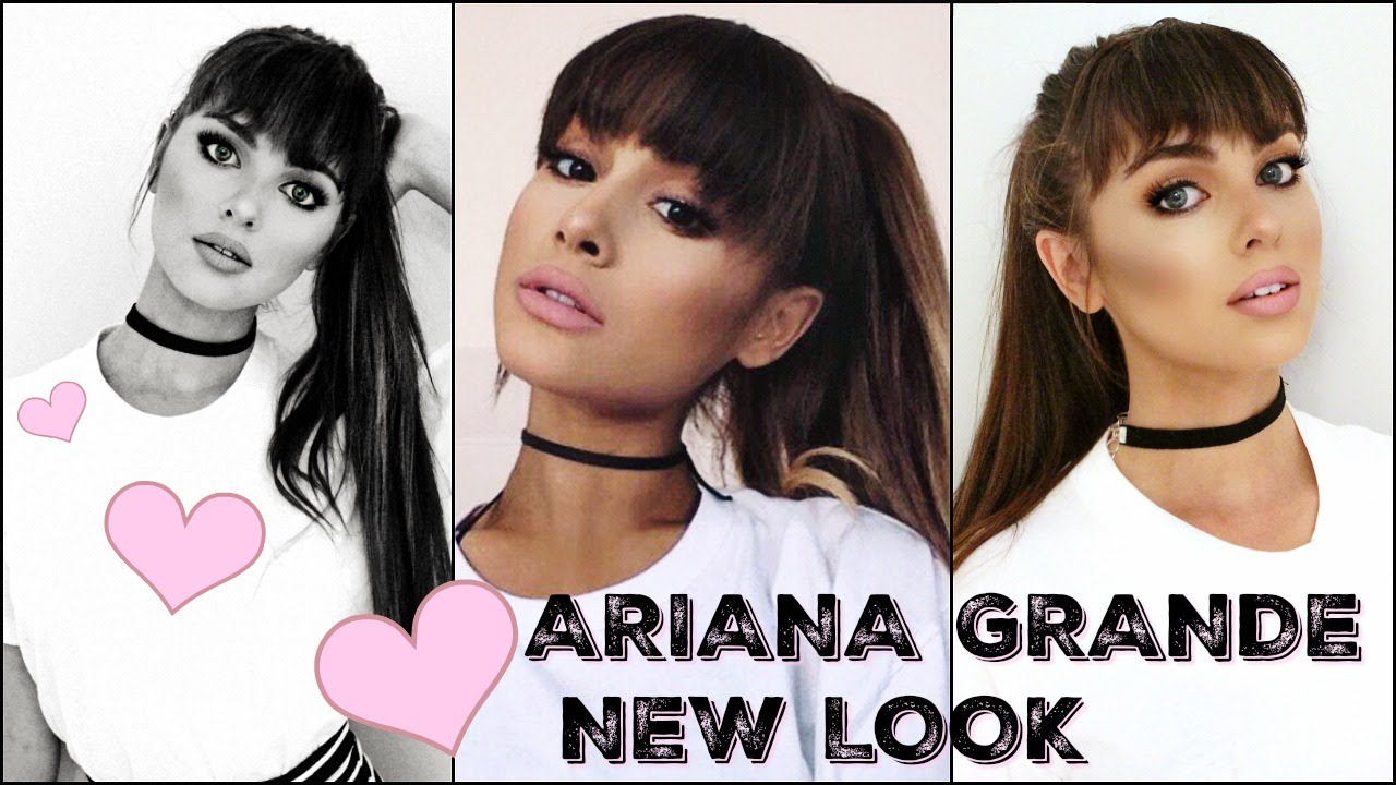 ARIANA GRANDE Makeup Tutorial 2016! New Bangs & Full Glam