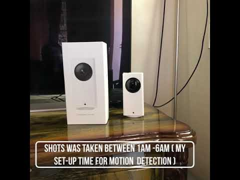 XIAOMI DAFANG IP CAM NIGHT MOTION DETECTION FOOTAGE