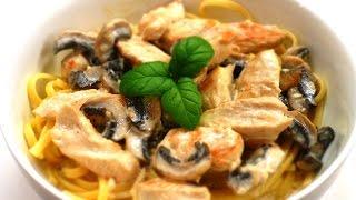 Курица с грибами в сливочном соусе, рецепт ароматного, сытного и вкусного блюда