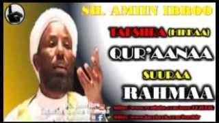 Tafsiira Suuraa  Rahmaa - Sheikh Amin Ibro