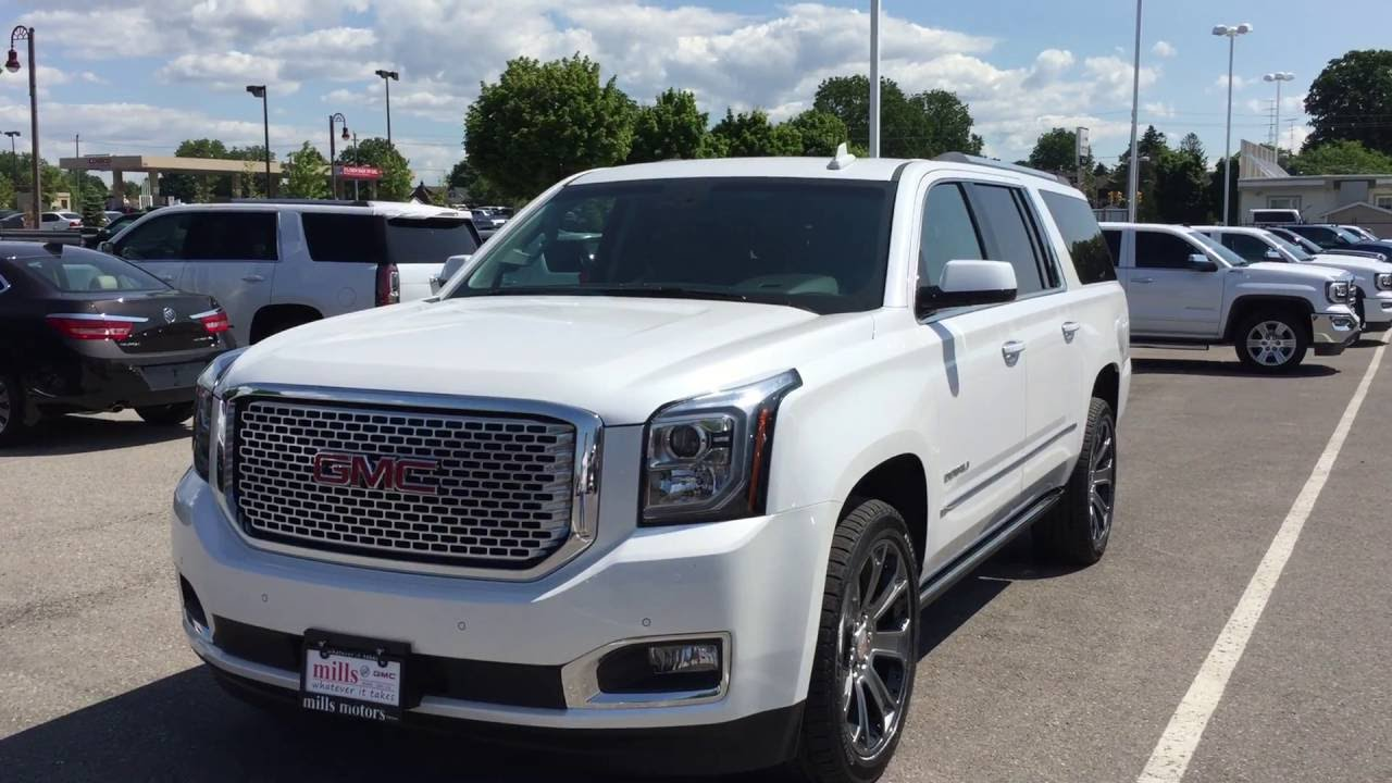2016 gmc yukon xl denali 4wd heads up display white oshawa. Black Bedroom Furniture Sets. Home Design Ideas
