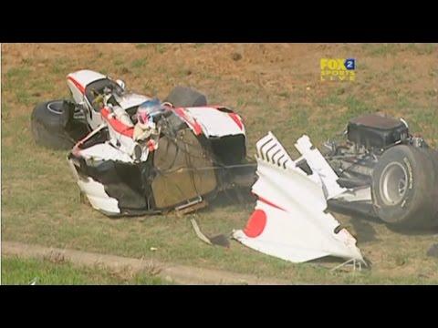 A1GP Eastern Creek 2005 2006 Race 2 Huge crash Shimoda (Japan)