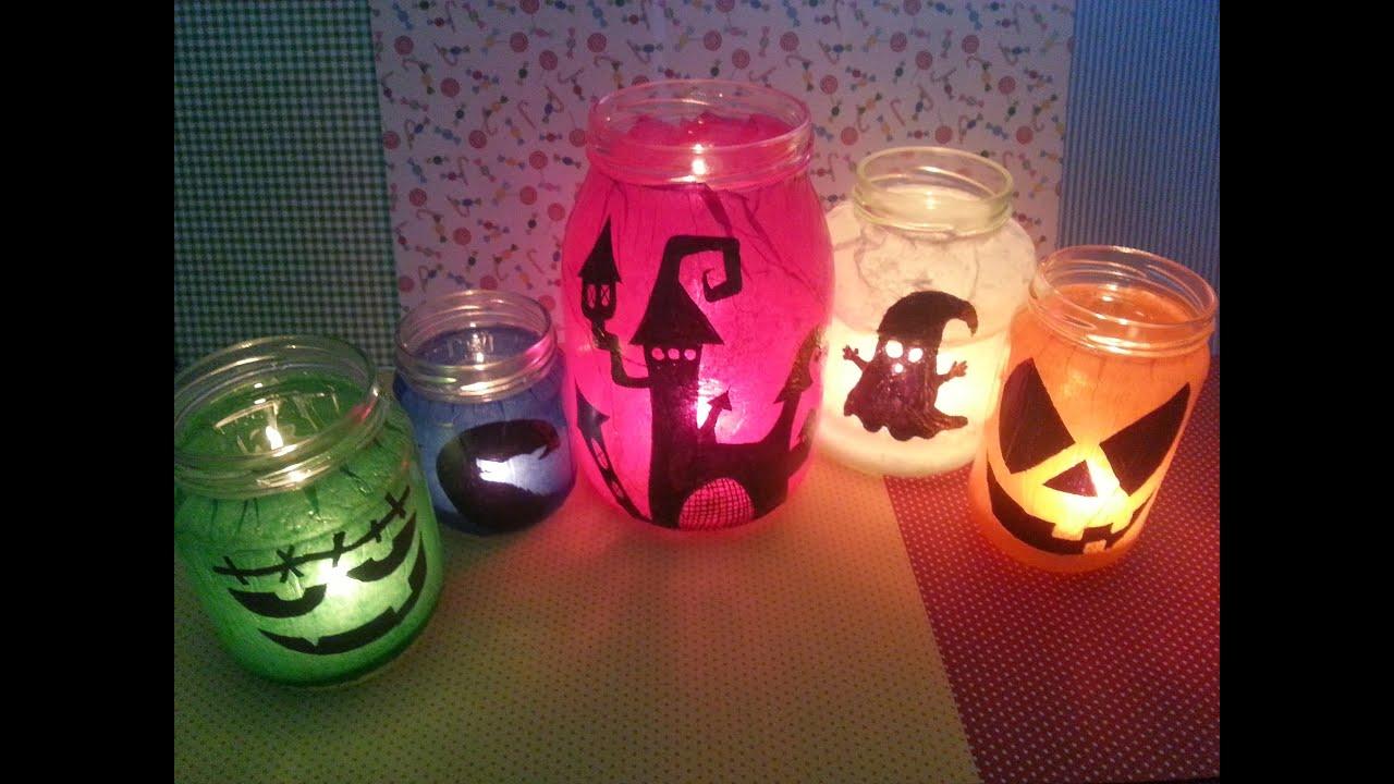Foto Di Halloween.Tutorial Lanterne Di Halloween Riciclando I Barattoli Riciclo Diy