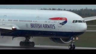 rare diversion   british airways boeing 777 300er at helsinki airport   ba168
