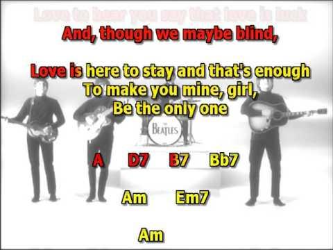 Things we said today Beatles Mizo Vocals lyrics chords