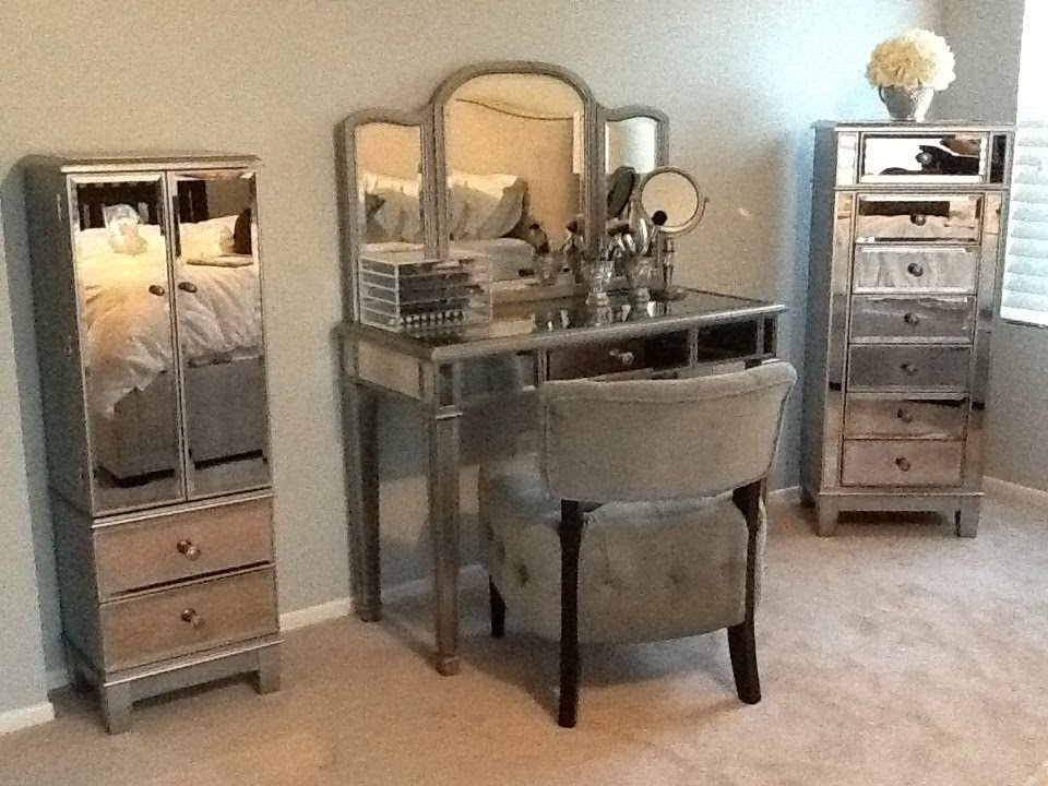 """Hayworth vanity"" and makeup storage - YouTube"