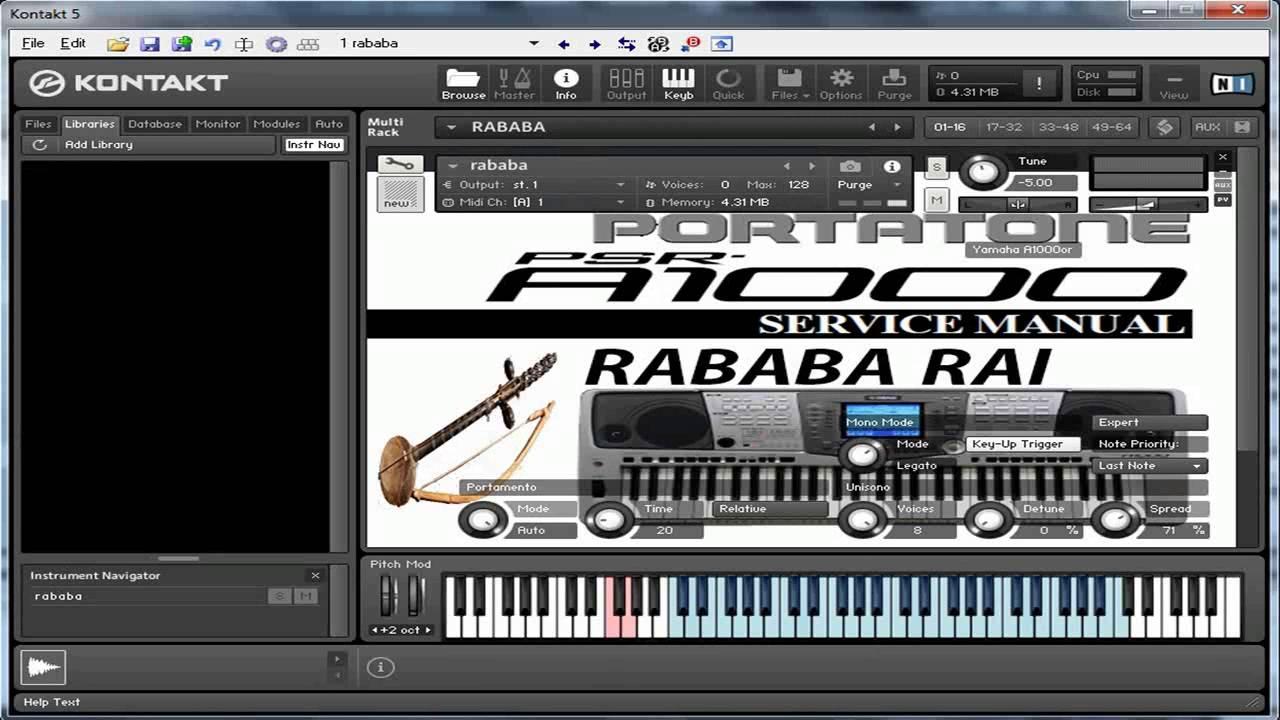rbab yamaha a1000 pour fl studio