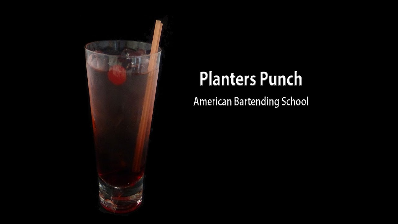 Planters Punch Cocktail Drink Recipe - YouTube