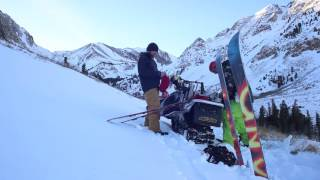 Backcountry Snowboarding Bloody Couloir and the Sherwins, Mammoth Lakes California