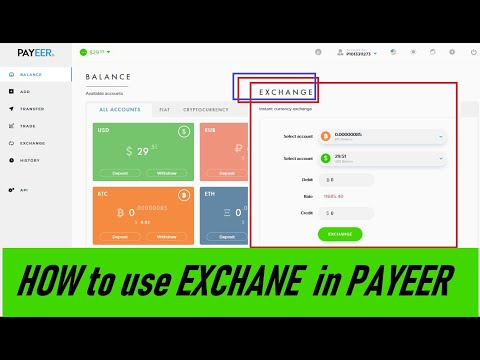 HOW TO EXCHANGE IN PAYEER OR TRANSFER BTC