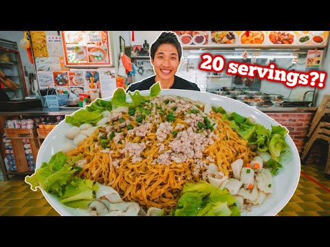 Spicy Fishball Noodle Mountain Challenge! | Best Fishball Noodles In Singapore?!