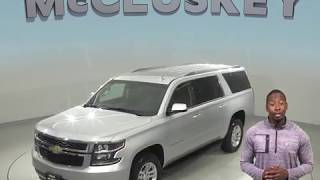 A99081TR  Used 2018 Chevrolet Suburban LT 4WD SUV Silver Test Drive, Review, For Sale -