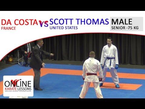DA COSTA (FRA) vs SCOTT THOMAS (USA) - Karate1 Premier League Dutch Open 2016