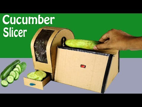 Powerful Cucumber Cutter | How to Make vegetable cutter machine