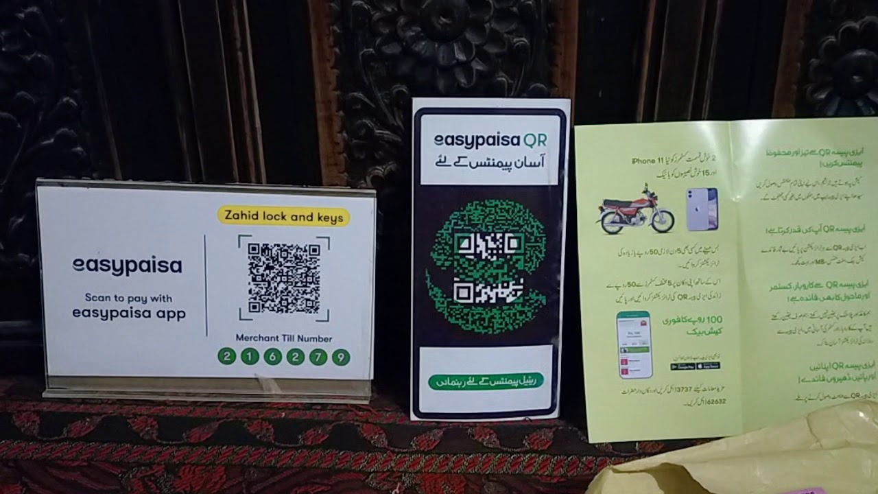 how to make your own easypaisa qr and get easypaisa visa