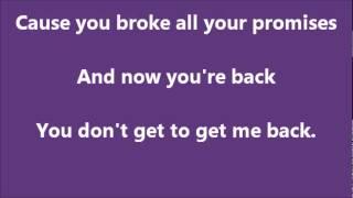 Glee Jar of hearts with lyrics