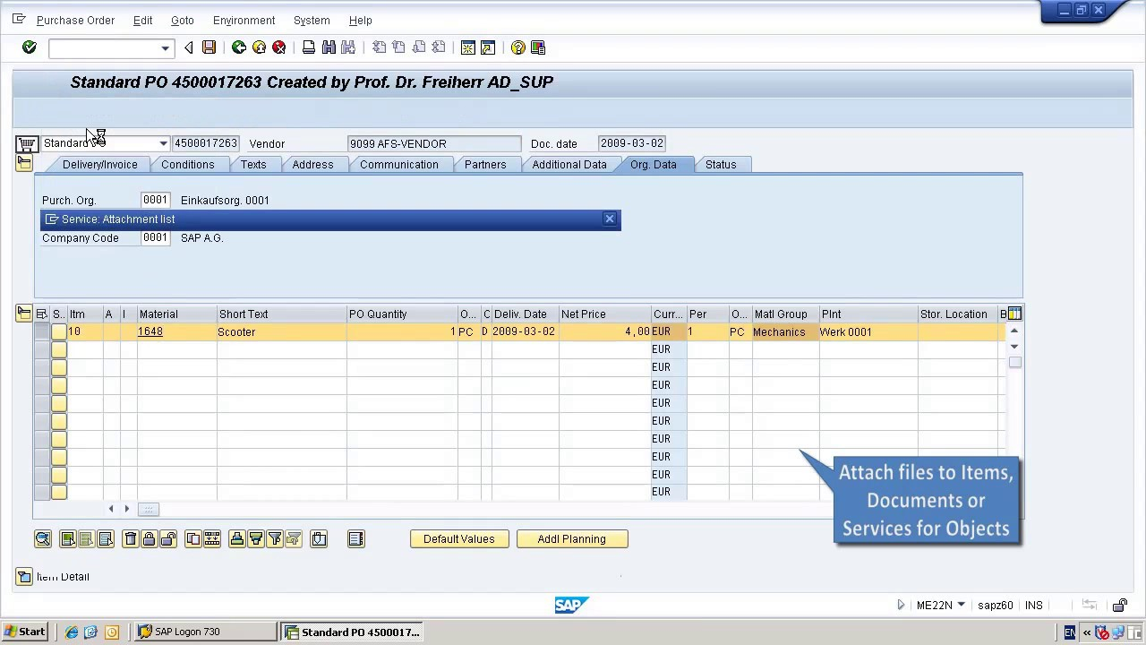 How to attach files to SAP Purchase Orders and distribute them automatically