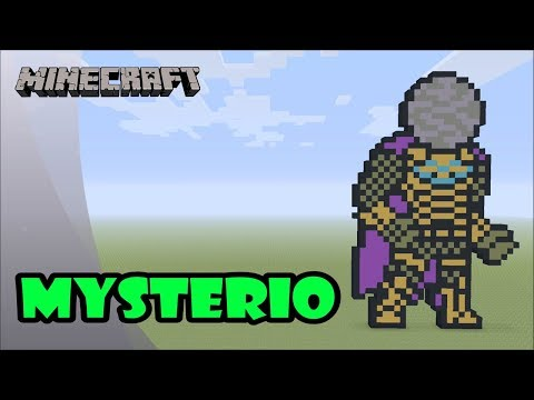 Minecraft: Pixel Art Tutorial and Showcase: Mysterio (Spider-Man: Far From Home) thumbnail