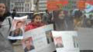 Kurdistan: PKK women and children protest against Turkey in Brussels