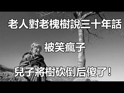 老人對老槐樹說三十年話,被笑瘋子,兒子將樹砍倒后傻了!