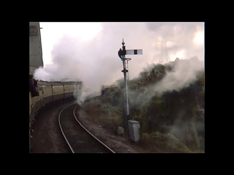 5029 steam hauled window view. Swansea to Newport 2001