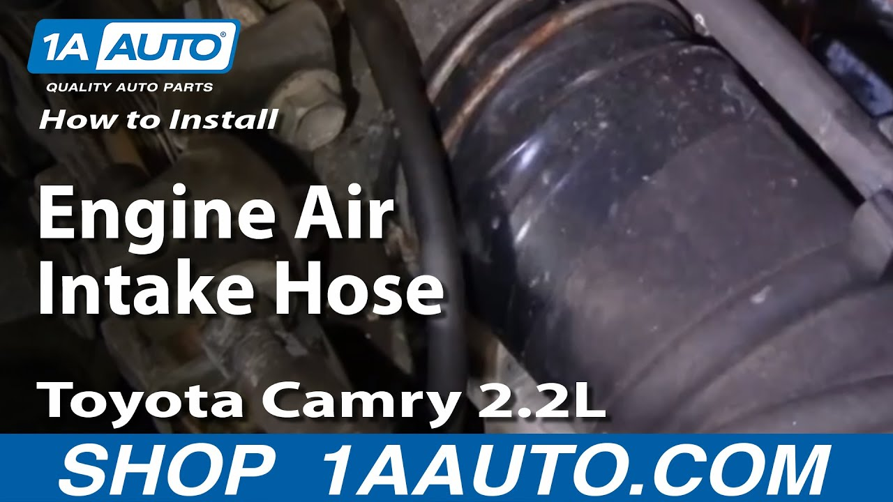 how to install replace engine air intake hose toyota camry 2 2l 95 96 1aauto com [ 1280 x 720 Pixel ]