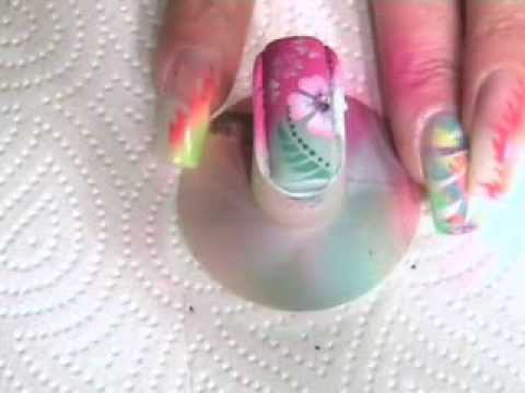 Airbrushing Nails Youtube