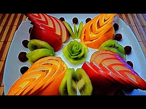 Как красиво нарезать фрукты на праздник