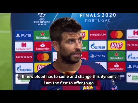 Gerard Pique offers to leave Barcelona after losing 8-2 to Bayern Munich