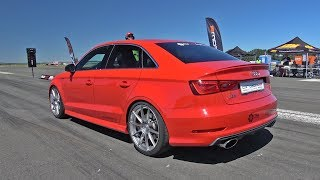 544HP Audi S3 TTE525 Turbocharger - FAST ACCELERATIONS!