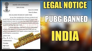 PUBG Mobile Ban In India | Legal Notice By Govt. Of India | PUBG Banned Confirm | Real Or FAKE