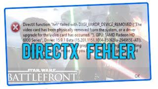 Star Wars Battlefront Beta DirectX Fehlermeldung - FIX