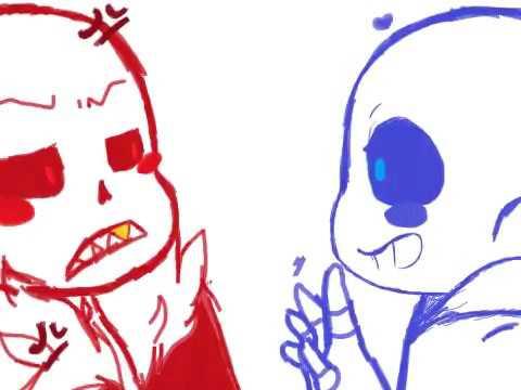 UT!sans vs UF!sans [+SPEEDPAINT] by LilyMagiko on DeviantArt