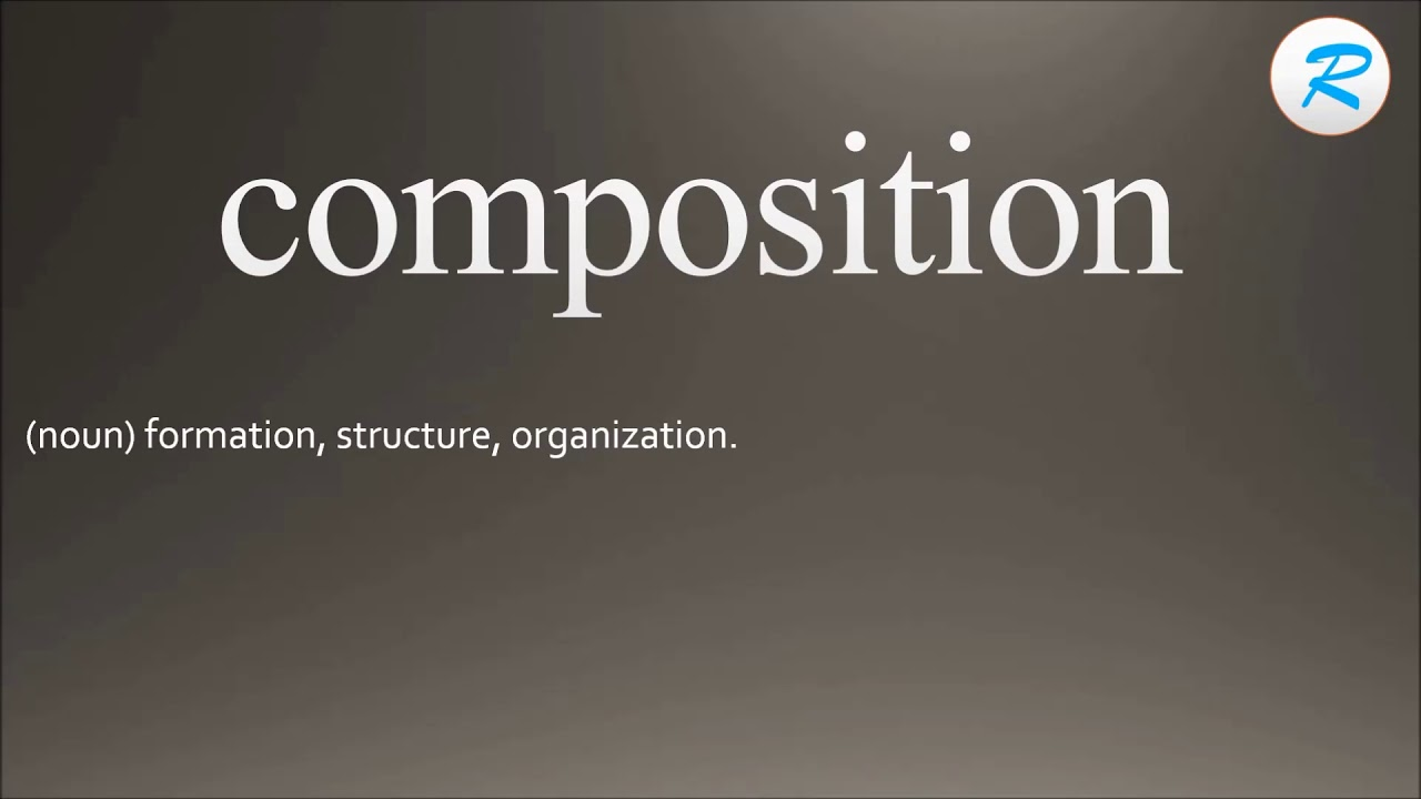 How to pronounce composition