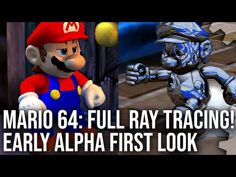 Super Mario 64 RT: Full Ray Tracing Conversion - PC Technical Preview First Look!