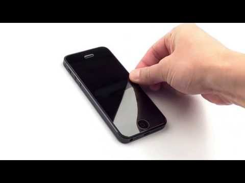 100% Genuine Tempered Glass Film Screen Protector for iPhone 5 - No Bubbles (Anti Fingerprint)