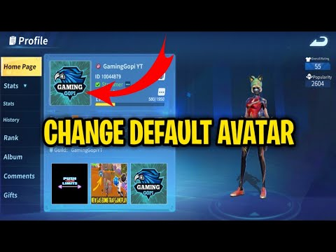 HOW TO CHANGE YOUR DEFAULT AVATAR. CHANGE PROFILE IMAGE IN  CREATIVE DESTRUCTION