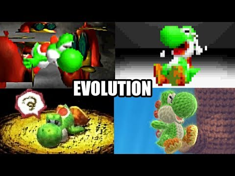 EVOLUTION OF YOSHI'S DEATHS & GAME OVER SCREENS (1990-2017) NES, SNES, N64, GBA, DS, Wii U & 3DS