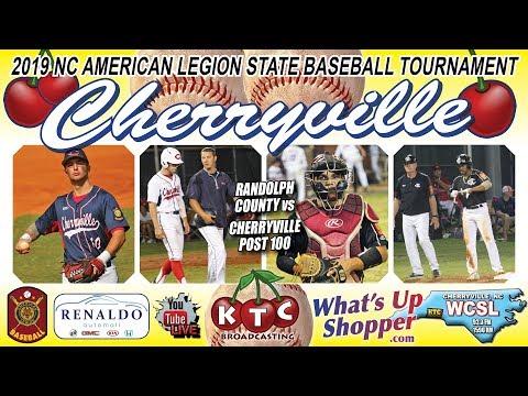 Cherryville Vs Randolph County - NC American Legion Baseball Tournament