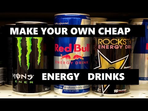 HOW TO MAKE Energy Drinks at home cheap and easy recipe