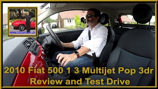 Review and Virtual Video Test Drive In Our 2010 Fiat 500 1 3 Multijet Pop 3dr