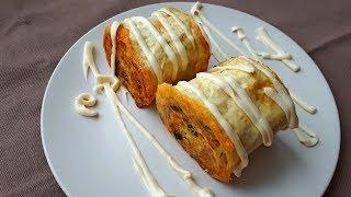Рулет из Лаваша с Картофелем. Вкусный Завтрак для всей семьи.