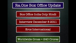 Ra.One Movie: Phase 1 Collections