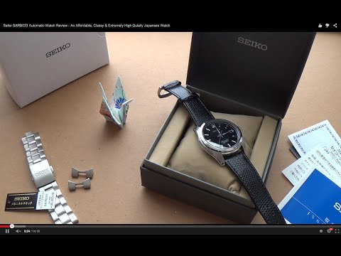 Seiko SARB033 Automatic Watch Review - An Affordable, Classy & Extremely High Quality Japanese Watch