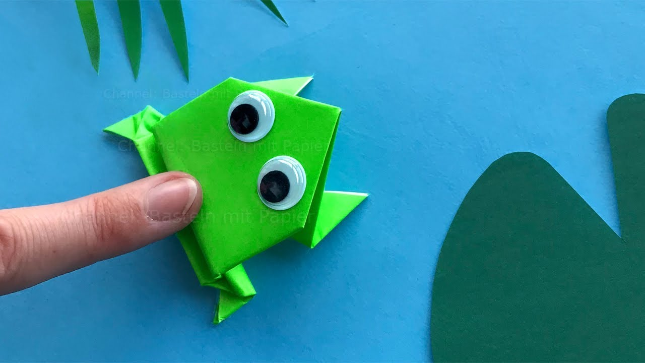 Bastelsachen Für Kinder Origami Jumping Frog Paper Frog That Jumps High And Far Easy Tutorial
