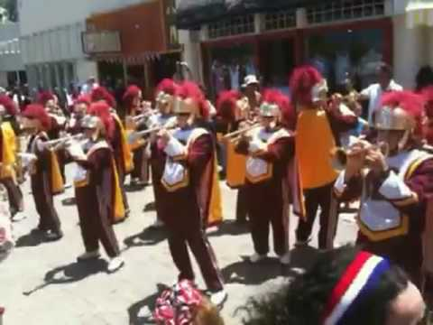 USC Marching Band plays Banda music! The Catalina  crowd loves it!